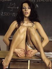 Smoking Hot Teacher Strips After Class To Pleasure Herself