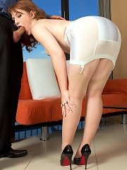 Fiery redheads with pale skins and flexible legs